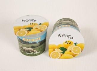 2 yaourts citron au lait de brebis 1/2 écrémé