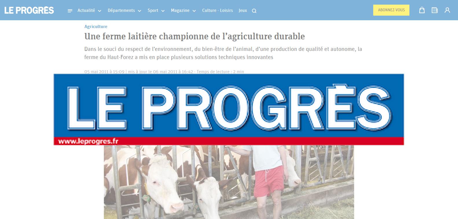 Le Progrès , article du 05/11/2011