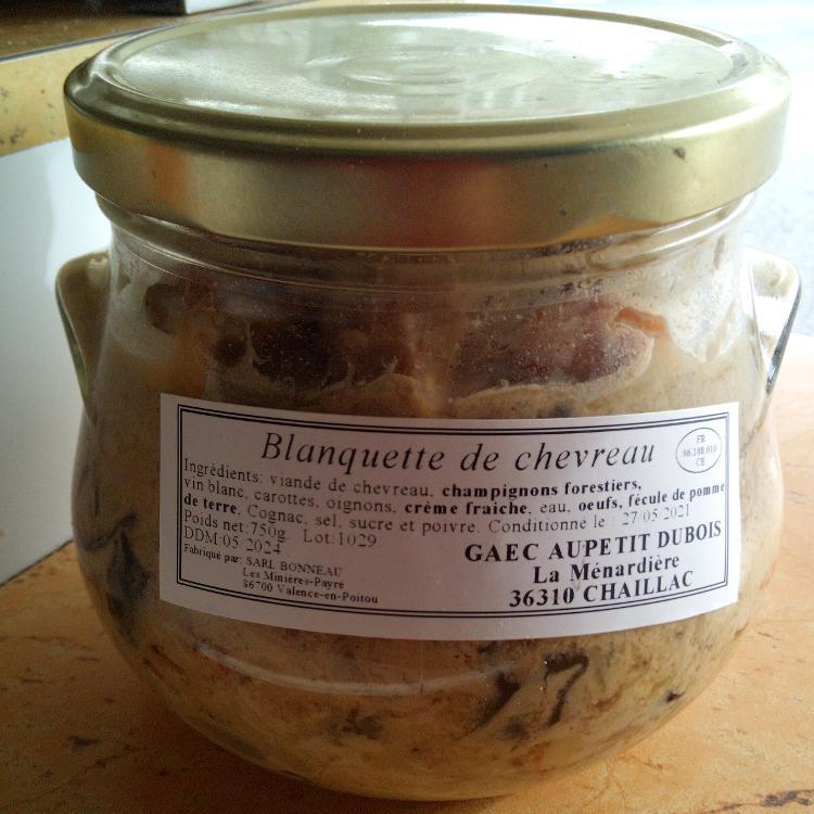Blanquette de chevreau - Ferme de la Ménardière - 750g