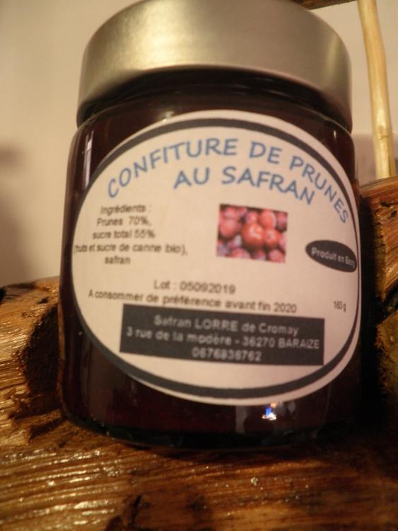 Confiture safranée prunes  135 ml