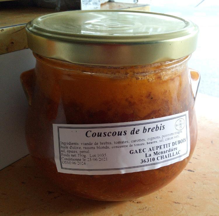 Couscous de Brebis - Ferme de la Ménardière - 750g