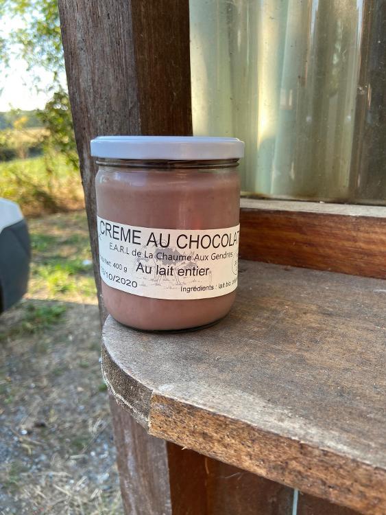 Crème chocolat BIO - La Chaume au Gendre - dont 0.20 ¤ de consigne
