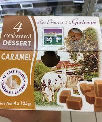 Lot de 4 crèmes dessert - Caramel 125g