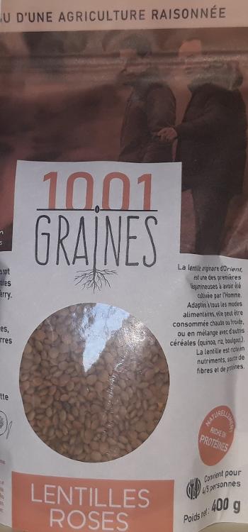 """Lentilles roses """"1001 graines"""" sachet de 400g"""