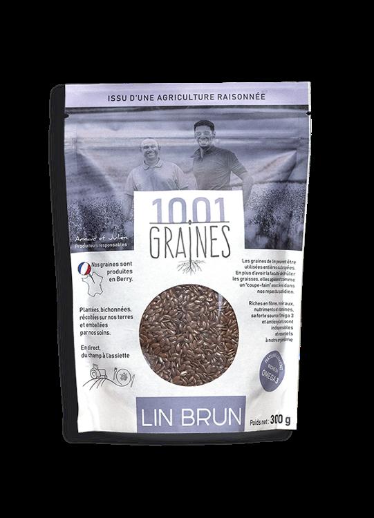 "Lin brun ""1001 graines"" - sachet de 300grs"