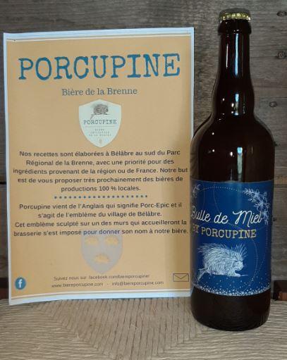 Porcupine - Bulle de miel (hydromel pétillant 4.5%) 1 bouteille de 75cl