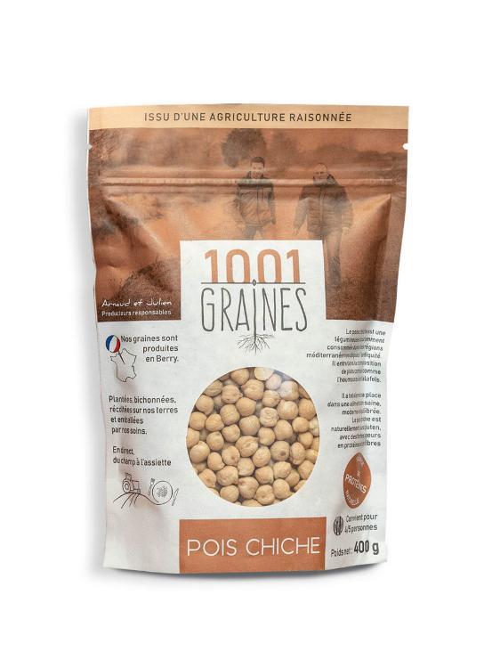 """Pois chiche """"1001 graines"""" - sachet de 400grs"""