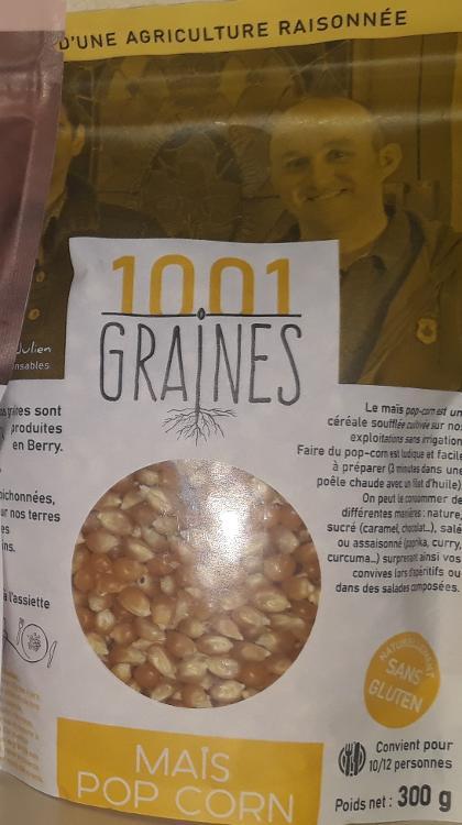 """Maïs pop corn """"1001 graines"""" - sachet de 300g"""