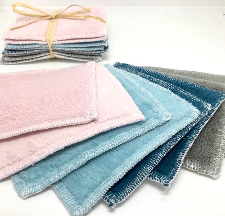 Lingettes lavables multi-colors lot de 8, 11cm x 11 cm)