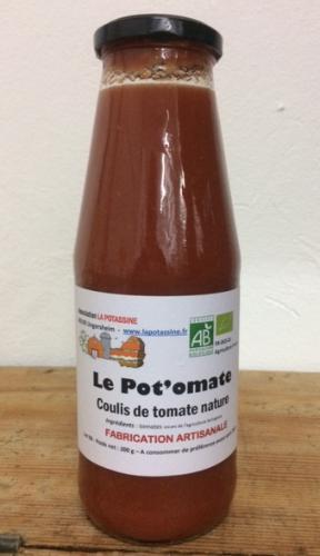 LE POT'OMATES (coulis de tomate Nature)