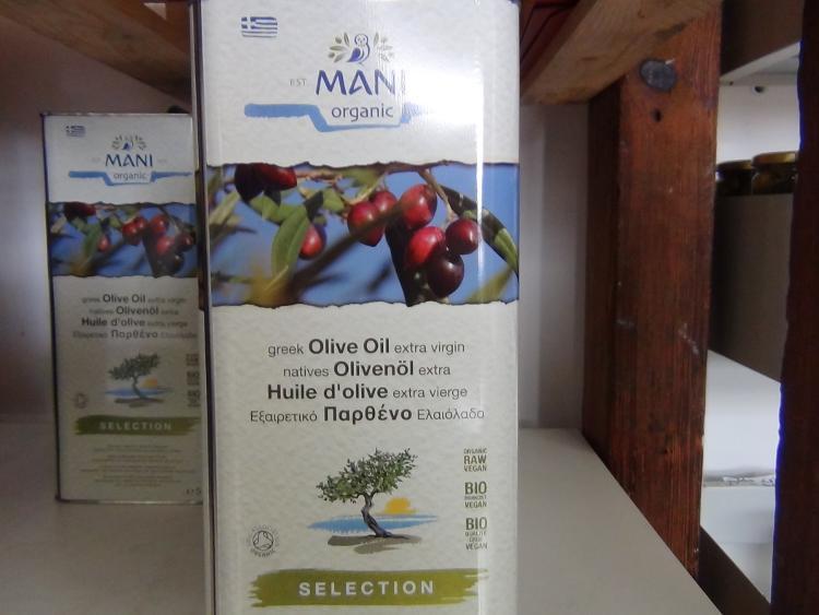 Huile d'olive Bio fruitée Mani en vrac au Litre (pensez à votre contenant)