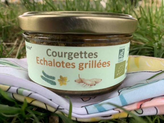 Tartinade courgettes échalotes grillées