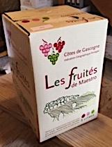 1 cubi de Côtes de Gascogne Rouge 10 L