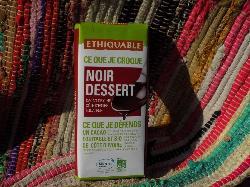 Tablette de chocolat noir dessert 63%