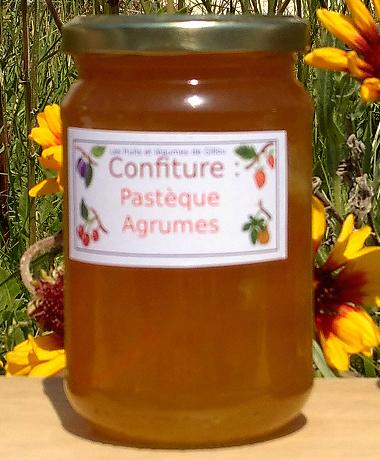 Confiture pastéque agrumes (orange et citron) (dégustez... et ramenez-nous le pot vide... merci !)