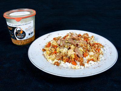 Porc caramel et riz parfumé