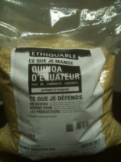 Quinoa bio Equateur (nouveau en Bio)