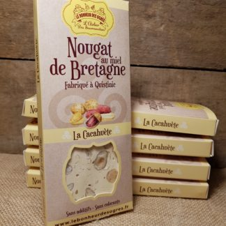 Nougat Cacahuètes au Miel de Bretagne