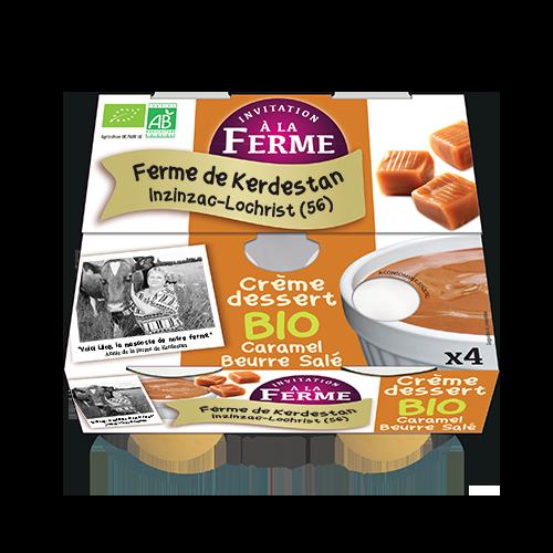 Crème dessert Bio caramel beurre salé 4 X 100G