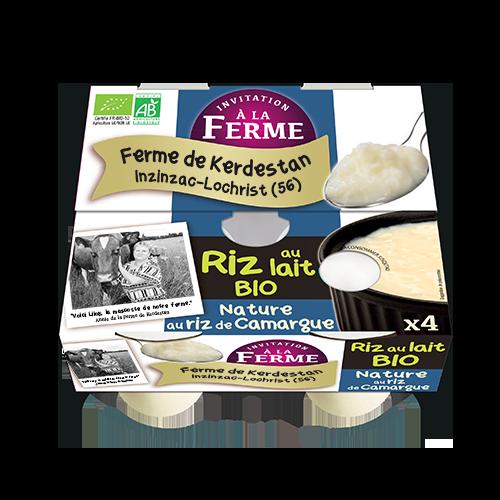 Riz au lait Bio nature au riz de camargue 4 X 125G
