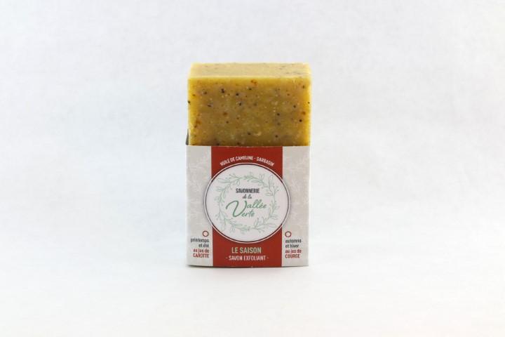 Savon exfoliant LE SAISON //jus de légume - sarrasin -huile cameline