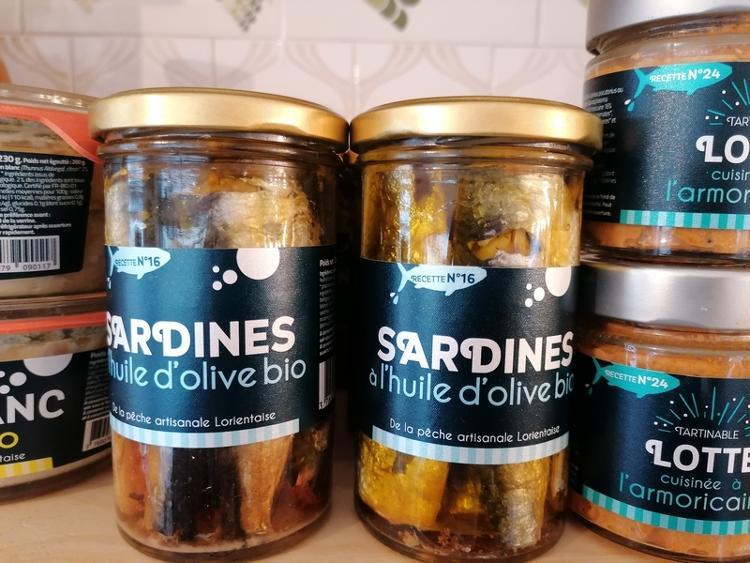 Sardines à l'huile d'olive bio - 245g