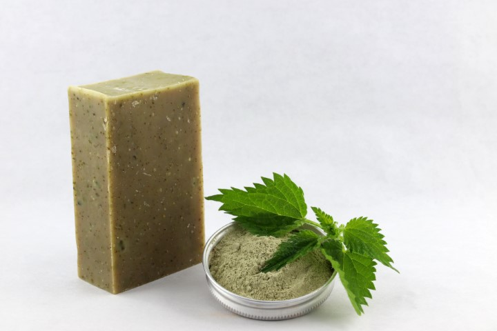 Savon LE SAUVAGE //ortie - argile verte (sans bague d'emballage)