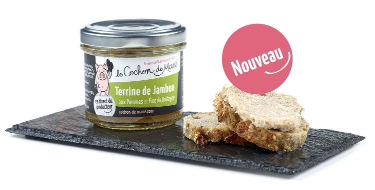 Terrine de jambon aux pommes et Fine de Bretagne