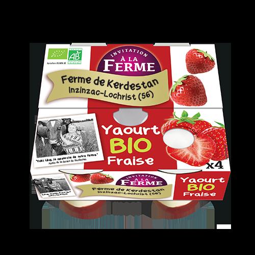Yaourt bio à la fraise 4 X 125G