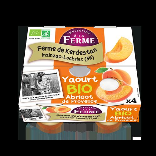 Yaourt bio à l'abricot de Provence 4 X 125G