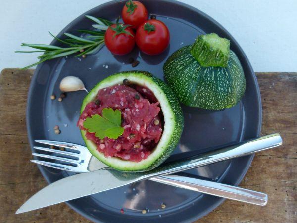 Viande hachée de VACHE salée et poivrée - préparation viande de vache hachée salée et poivrée