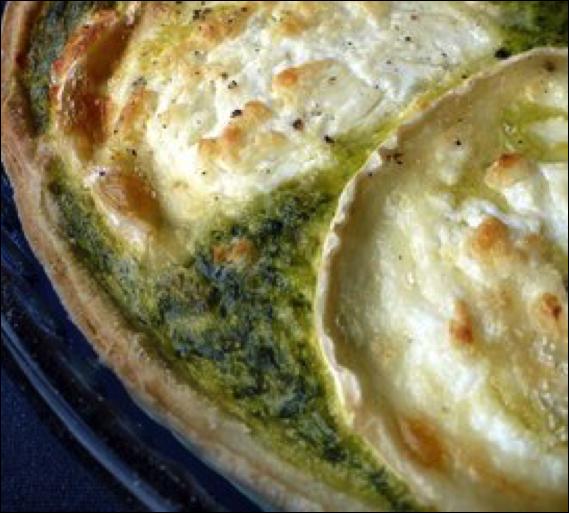 Tarte aux blettes, au cresson ou aux épinards et au fromage de chèvre