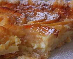 Tarte alsacienne aux poires ou aux pommes