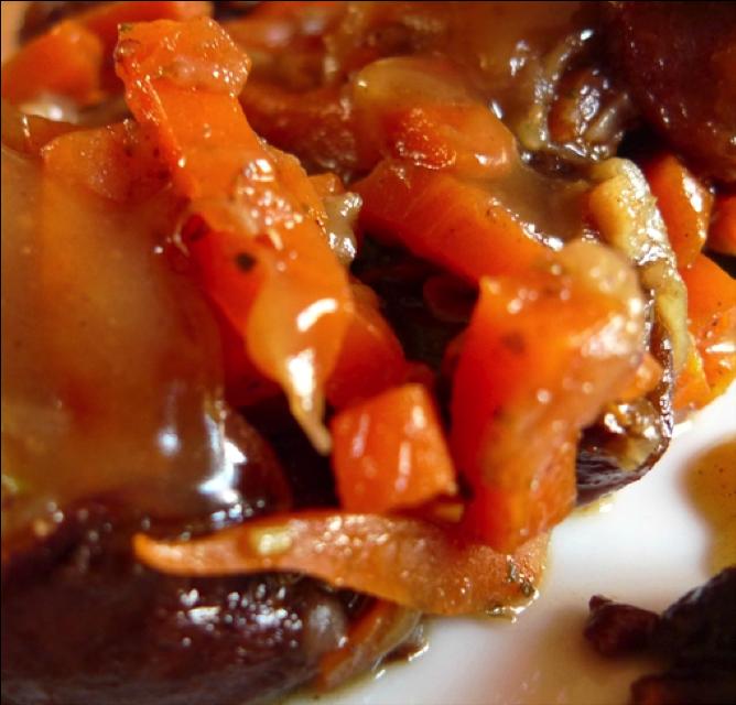 Porc aux carottes et aux pruneaux