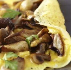 Omelette aux pleurotes et à l'ail frais