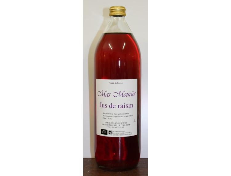 Jus de raisin rouge du Mas Mouriès (Eric et Solange)