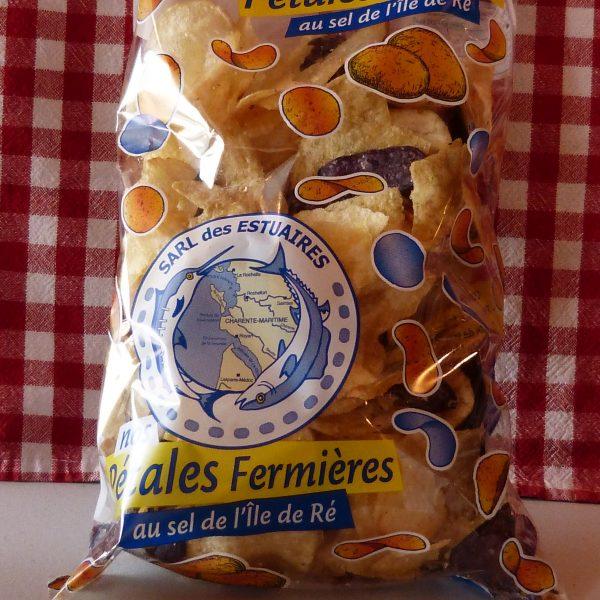 """Chips """"Pétales fermières"""" au sel de l'Ile de Ré"""