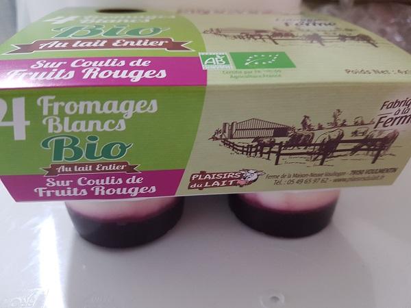 Fromage Blanc / coulis de fruits rouges 110gr