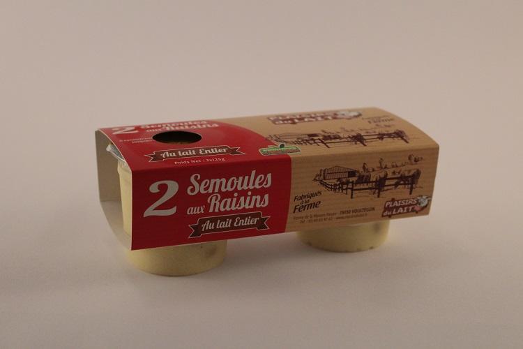 semoule aux raisins 125gr