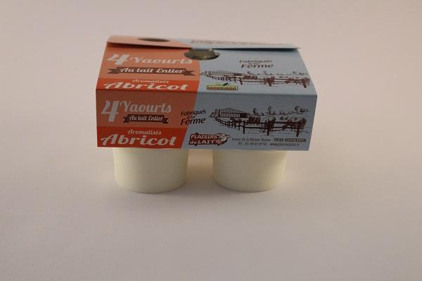 yaourt aromatisé lait entier abricot 125g