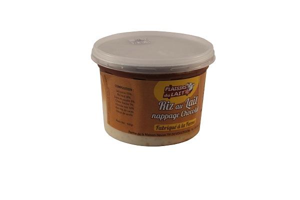 Riz au lait   nappage chocolat 500gr