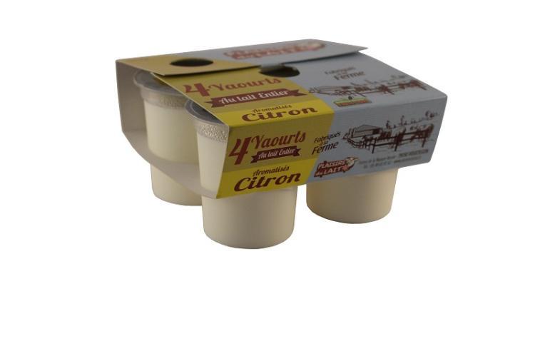 yaourt aromatisé lait entier citron 125g