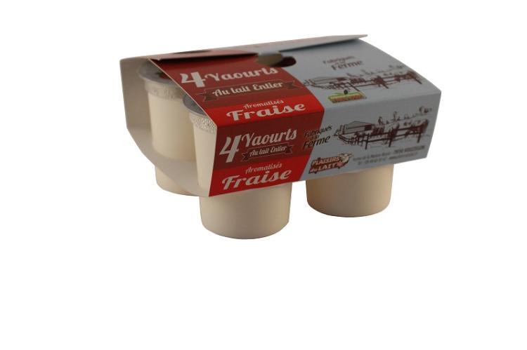 yaourt aromatisé lait entier fraise 125g