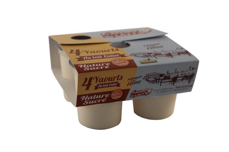 yaourt nature sucré lait entier 125g