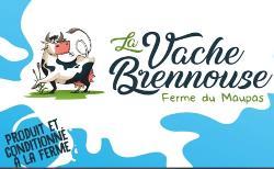 Lot de 4 yaourts Pêche - La vache Brennouse pot 125g