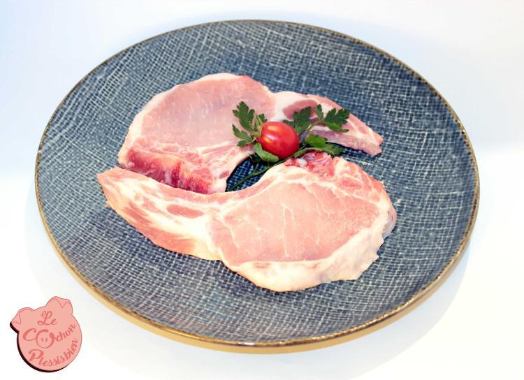 Cotes de porc premières x2