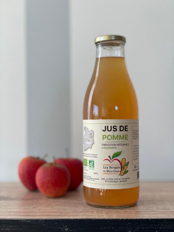 Jus POMME-GINGEMBRE, un cocktail sans alcool à la saveur épicée assez prononcée