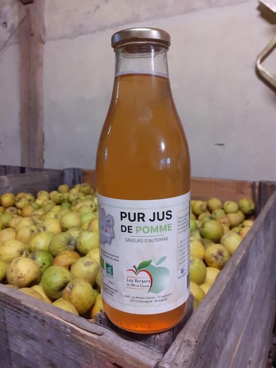 Jus de pomme bio SAVEUR D'AUTOMNE,  la fraicheur de l'automne dans un jus de pomme clair