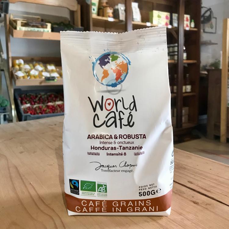 Café grains arabica & robusta