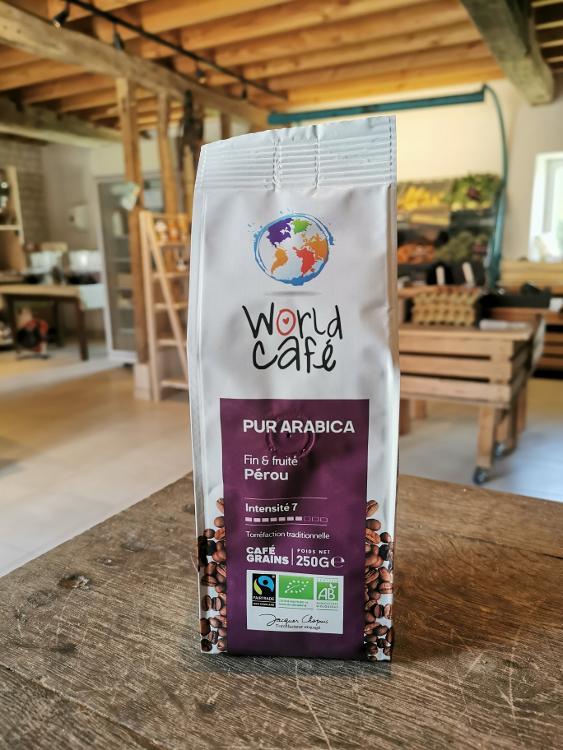 café grains pur arabica